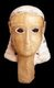 Yemen: Alabaster head of a woman with inlaid eyes, Tamna', c. 1st century BCE-1st century CE